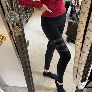 F21 Striped Mesh Leggings